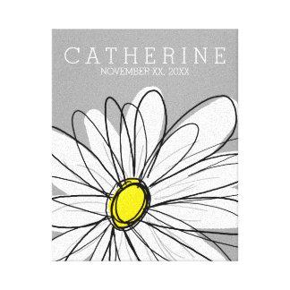 Toile Marguerite à la mode avec le gris et le jaune