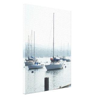 Toile Marina de mer de port de bateaux de voiliers de