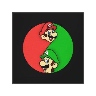 Toile Mario Luigi Yin Yang