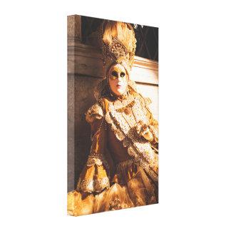 Toile Masque d'or de carnaval