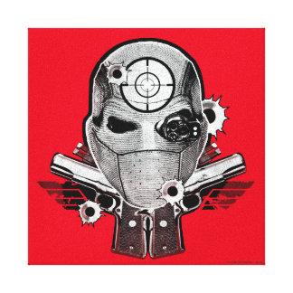 Toile Masque du peloton | Deadshot de suicide et art de