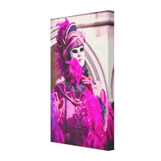 Toile Masque pourpre de carnaval à Venise