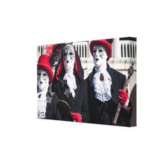 Toile Masques de carnaval à Venise