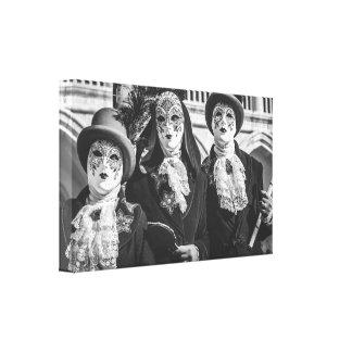 Toile Masques pendant le carnaval de Venise