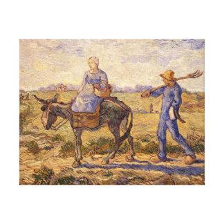 Toile Matin de Vincent van Gogh |, sortant pour
