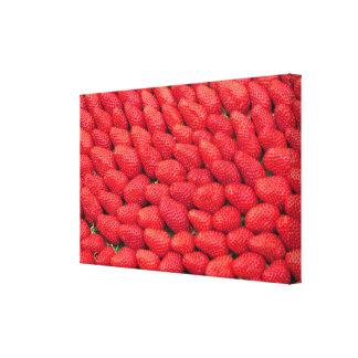 Toile Mer des fraises