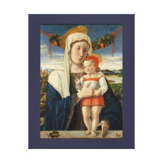 Toile Mère et enfant sous la guirlande