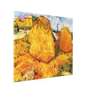 Toile Meules de foin de Van Gogh en Provence, beaux-arts