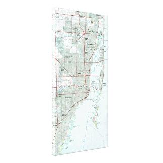 Toile Miami la Floride Map (1981)