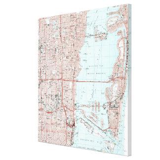 Toile Miami la Floride Map (1988)