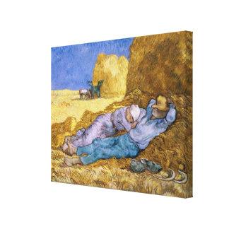 Toile Midi de Vincent van Gogh |, la sièste, après