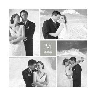 Toile moderne de collage de photo de mariage de toiles