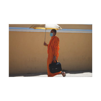 Toile Moine bouddhiste