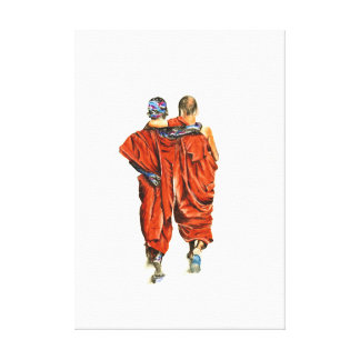 Toile Moines bouddhistes