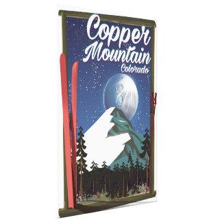 Toile Montagne d'en cuivre d'affiche de voyage du