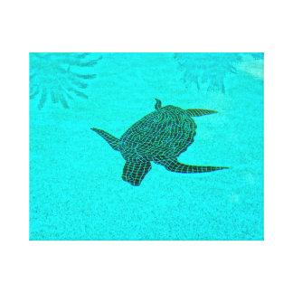 Toile Mosaïque de tortue de Tortuga sur l'île la Floride