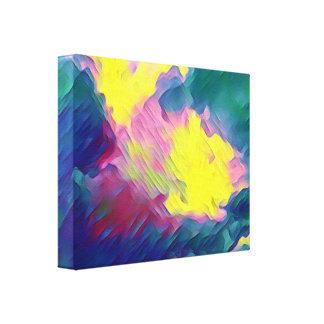 Toile Motif abstrait multicolore de fête vibrant