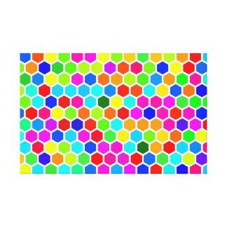 Toile Motif coloré d'hexagone