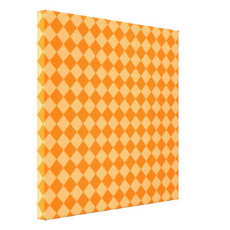 Toile Motif orange de diamant de combinaison par STaylor