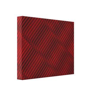 Toile Motif rouge et noir rouge