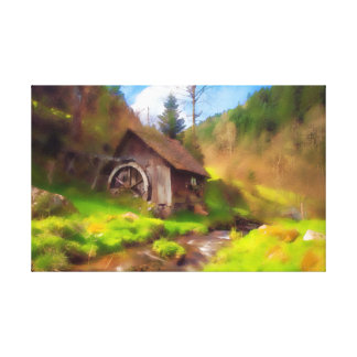 Toile Moulin de forêt noire