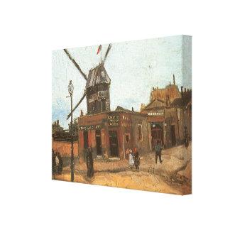 Toile Moulin de la Galette par Vincent van Gogh, moulin