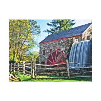 Toile Moulin démodé de blé à moudre