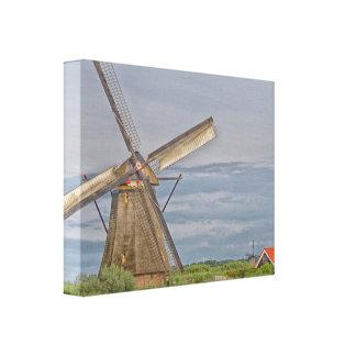 Toile moulins à vent de site de patrimoine mondial de