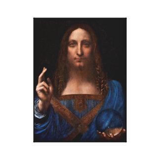 Toile mundi de salvador par Léonard de Vinci