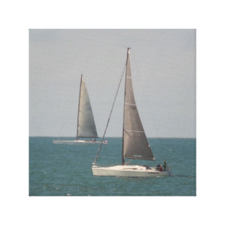 Toile Navigation du bleu d'océan