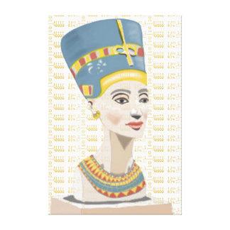 Toile Nefertiti et l'or ont couvert de tuiles la