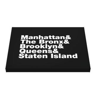 Toile ~ New York City de cinq villes