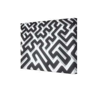 Toile Noir argenté de labyrinthe