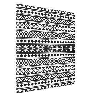 Toile Noir et blanc aztèques d'IIb de motif d'essence