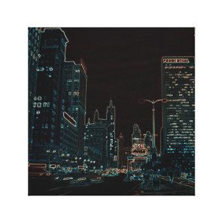 Toile Noir rougeoyant de bords des années 1960 d'avenue