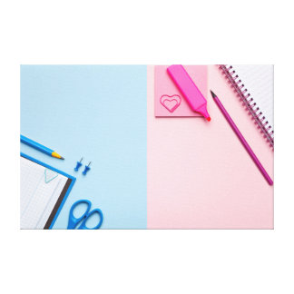 Toile Notes collantes colorées sur l'arrière - plan en