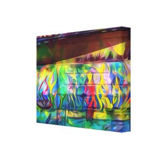 Toile numérique vibrante de mur de peinture