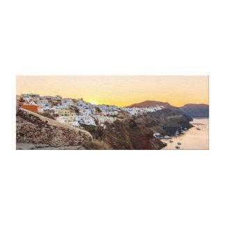 Toile Oia, lever de soleil de Santorini