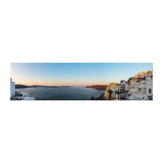 Toile Oia, panorama de lever de soleil de Santorini