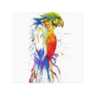 Toile Oiseau de perruche de perroquet
