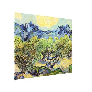 Toile Oliviers de Van Gogh, beaux-arts vintages