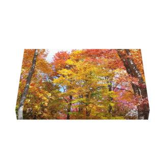 Toile Orange et photographie d'automne d'arbres
