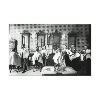 Toile original de photographie de salon de coiffure de