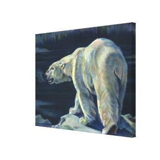 Toile Ours blanc vintage, animaux arctiques d'espèce