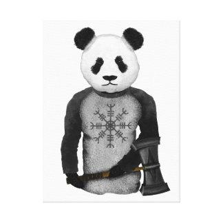 Toile Ours panda avec le marteau du Thor