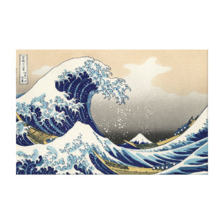 """Toile outre de Kanagawa de Hokusai """"la grande vagu"""
