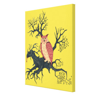 Toile Owl of Fire et Dragon Tree