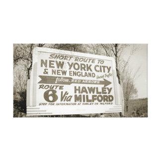 Toile PA de Hawley Pennsylvanie Milford de
