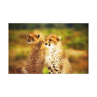 Toile Paires de guépard