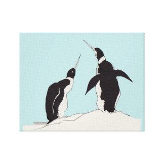Toile paires de pingouins